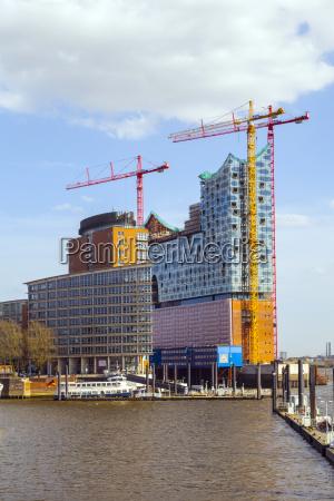 concert hall elbphilharmonie under construction in