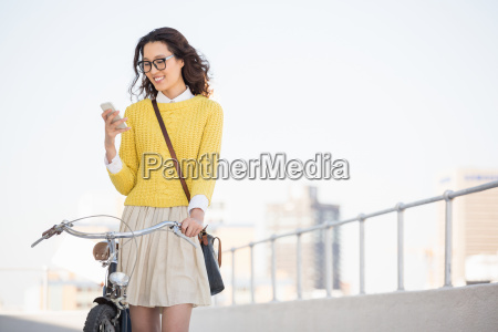 hipster using a smartphone