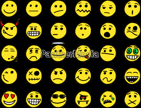 smiley vector hand drawings icon set01