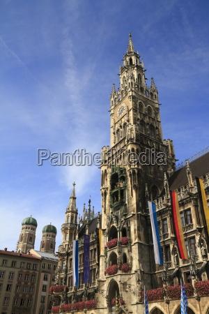 new town hall rathaus in marienplatz