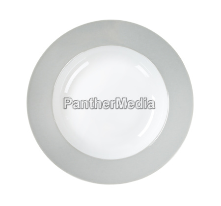 plate with grey rim