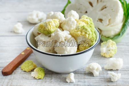 fresh raw cauliflower