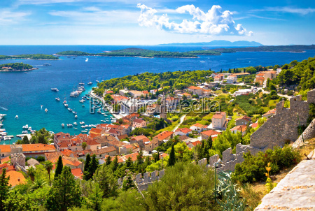 amazing historic town of hvar aerial