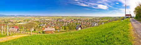 town of ivanec panorama from green