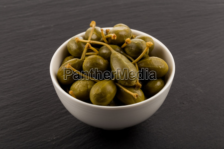 bowl of canned capers