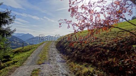 autumn hiking on the rellerli
