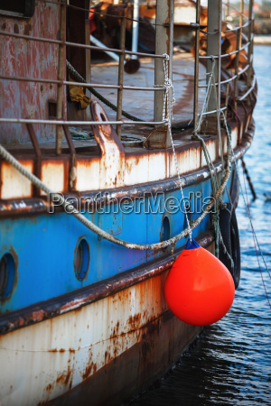 disused marine vessel