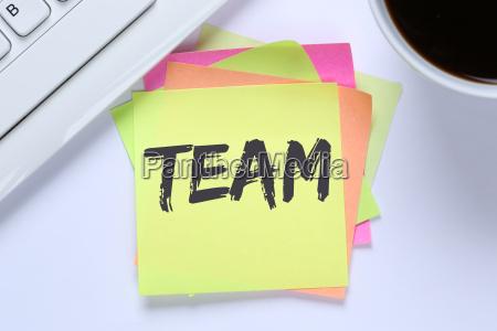 teamwork together work desk
