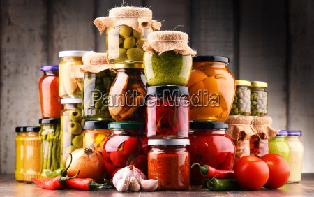 jars, with, variety, of, pickled, vegetables. - 20331413