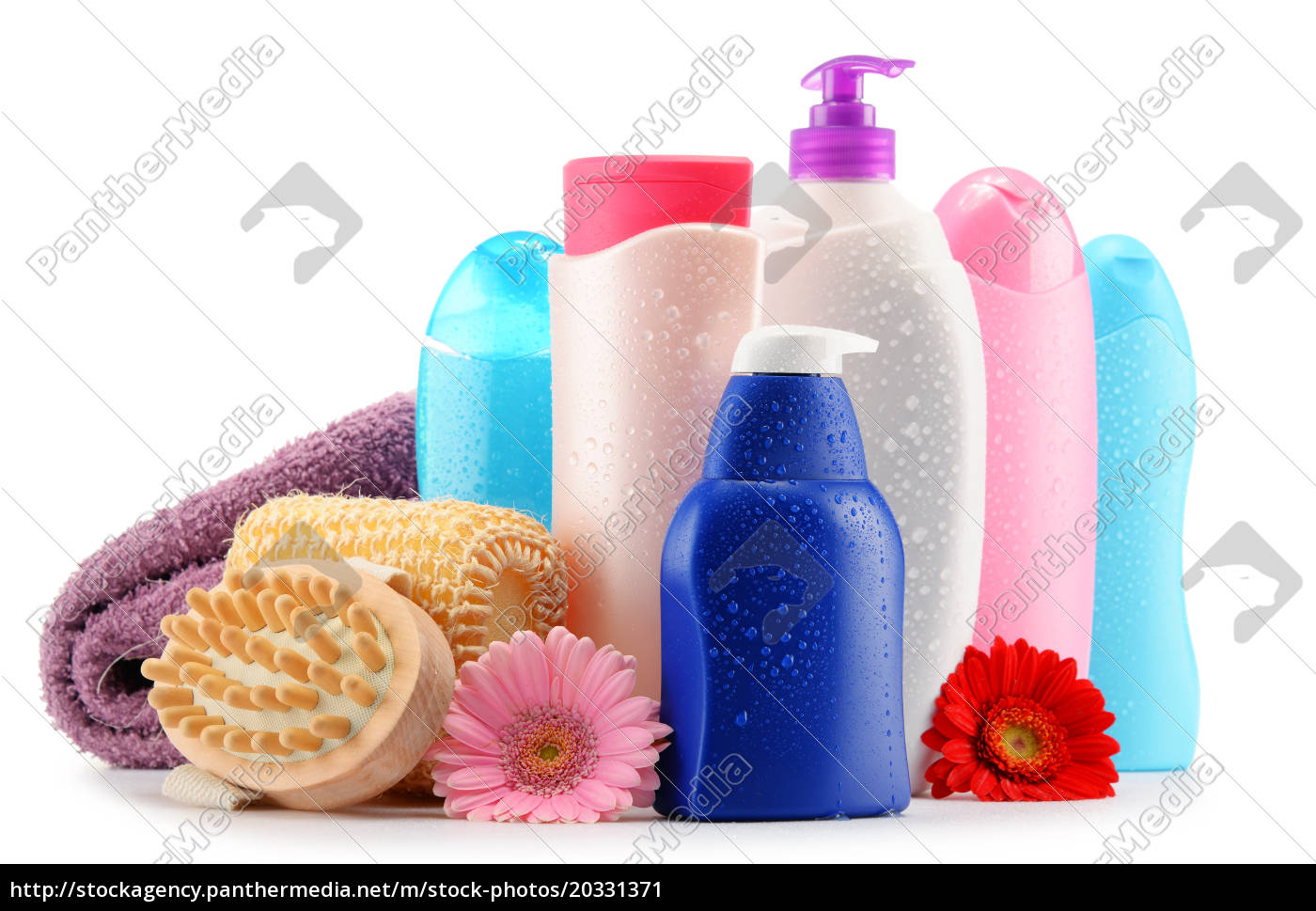plastic, bottles, of, body, care, and - 20331371