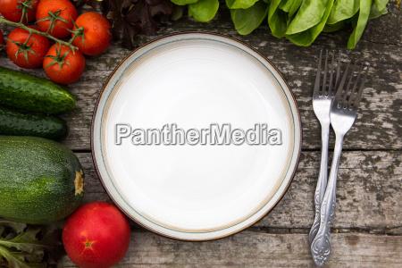 fresh vegetables for tasty vegan and