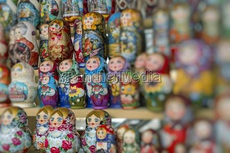 very large selection of matryoshkas russian