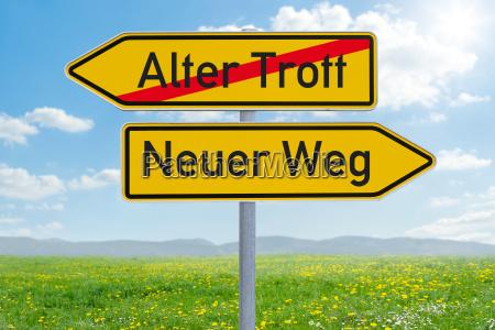 arrow sign alter trott or