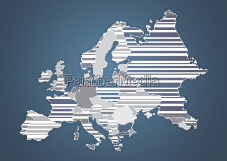 color country map of europe