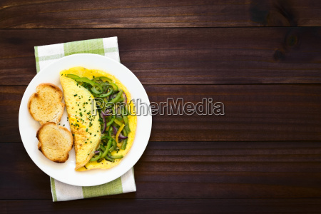 omelette with pepper and onion