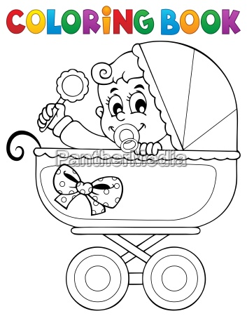 coloring book baby theme image 5