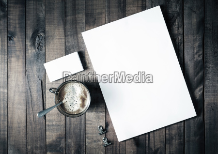 letterhead coffee and business cards