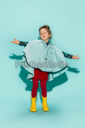 little girl posing in fashion style