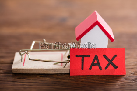 tax concept on wooden desk