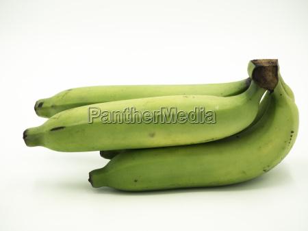 bunch of banana on isolated white