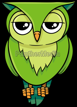 cartoon owl animal character