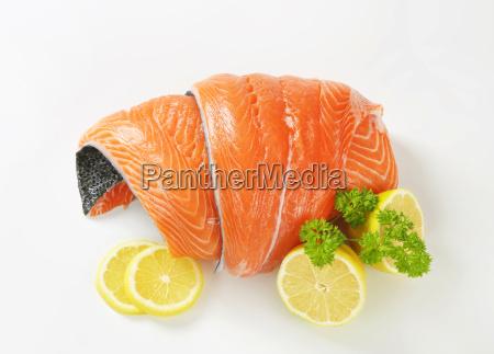 naranja comida primer plano pescado pesca