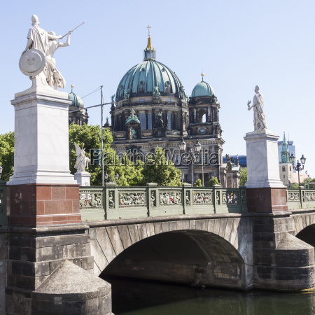 berlin cathedral with castle bridge