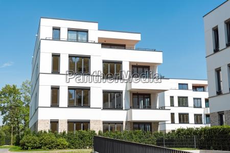 modern white apartment buildings in berlin
