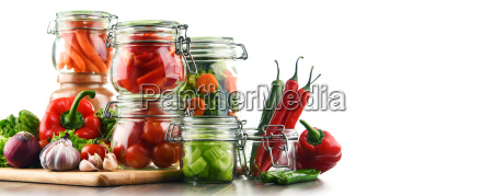 jars, with, marinated, food, and, raw - 20376081