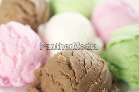 close up ice cream collection