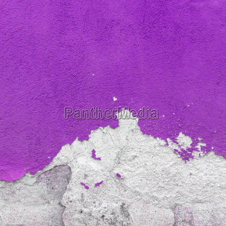 wall covered with plaster crashed