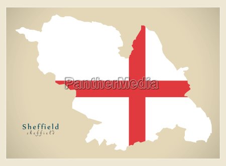 modern city map sheffield with