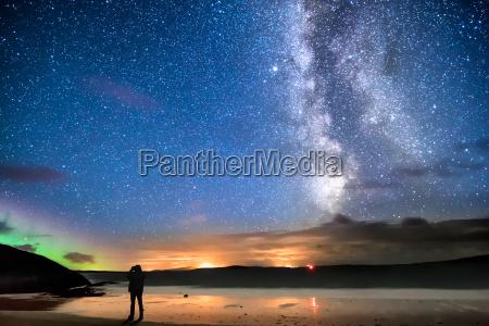 starry sky on the beach