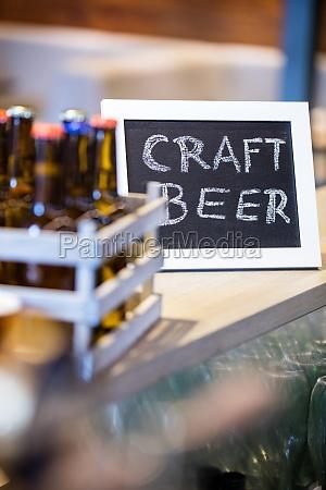 craft beer written on slate