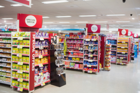 photograph of shelves with promotions