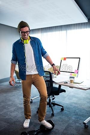 hipster man using a smart balance