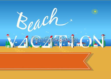 beach vacation travel card