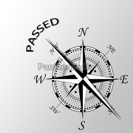 illustration of passed written aside compass