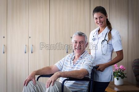 portrait of smiling senior man and