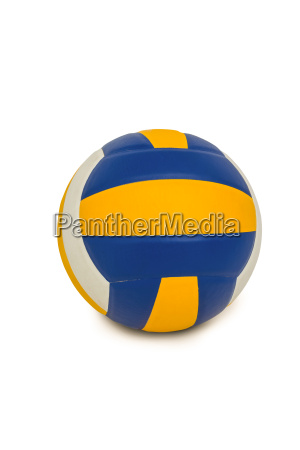 volley ball on white background