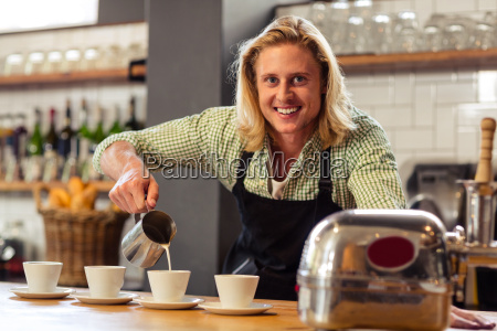 bartender serving coffees