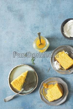 whole orange semolina rosemary syrup cake