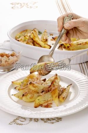 patate al forno condite oven roasted