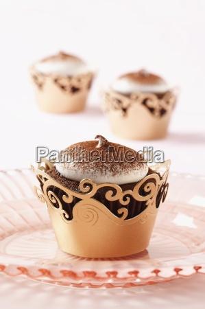 one devil s food chocolate cupcake
