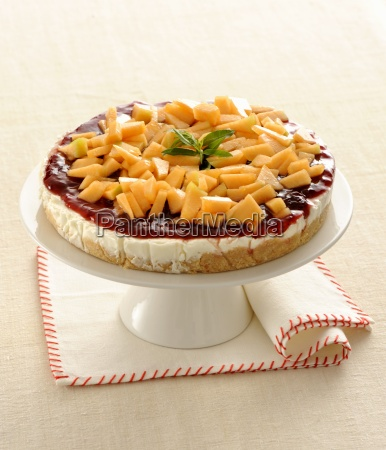 cheesecake with melon