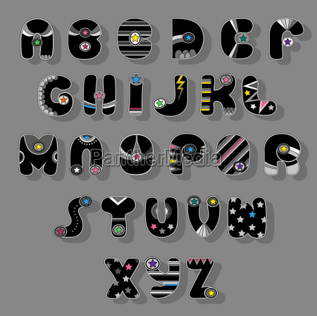 black font superhero style