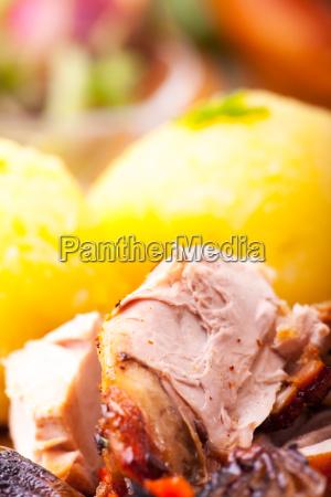 bavarian roast pork with dumplings