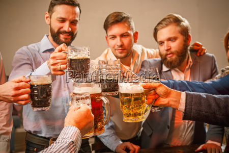 group, of, friends, enjoying, evening, drinks - 20487079