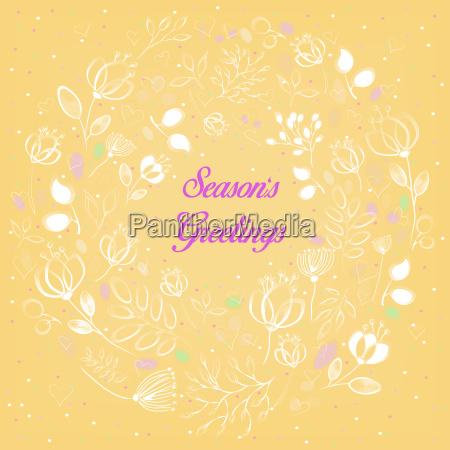 white floral ring season greetings