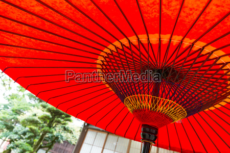 japanese paper red umbrella
